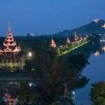 Night shot of Mandalay Hill with the lens focused at infinity. 45 mm · f/1.8
